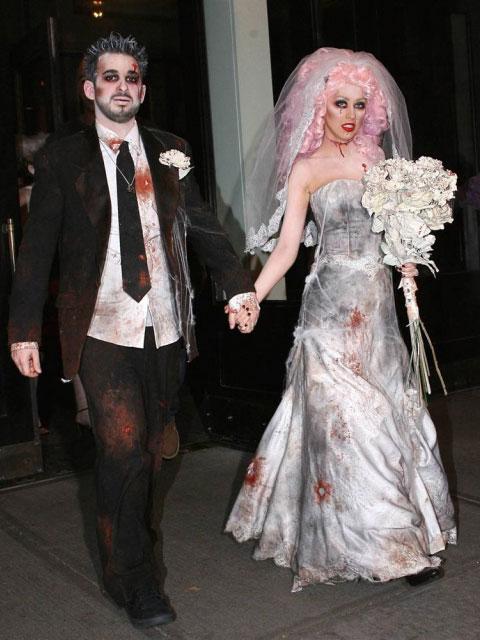 Christina Aguilera en mariée macabre