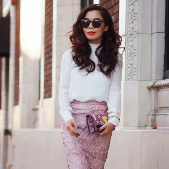 comment porter la jupe rose