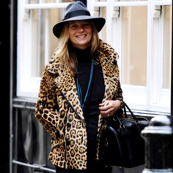 Kate Moss leopard coat