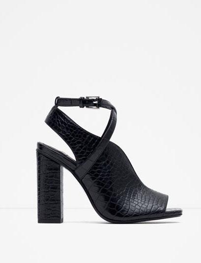 Zara - sandales à talons (60€)
