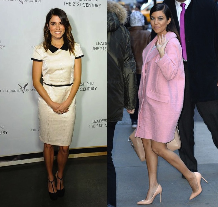 Kourtney Kardashian et Nikki Reed ont toutes les deux choisis Asos pour leur dernière sortie officielle. Si Kourtney l\'a joué coloré, Nikki a choisi l\'écru. Mais toutes les deux sont restées sages et chics.