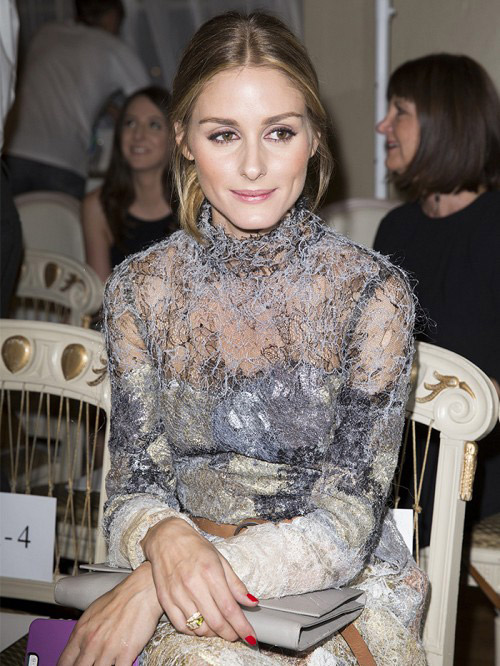 (Sur la photo : Olivia Palermo à la Fashion Week)