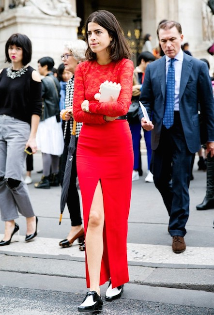leandra medine red street style