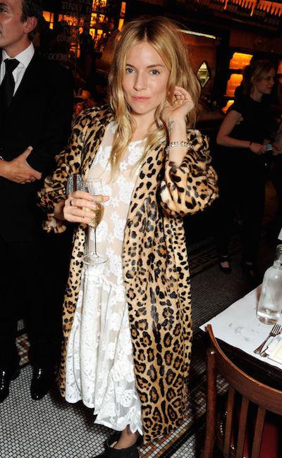 sienna miller leopard coat