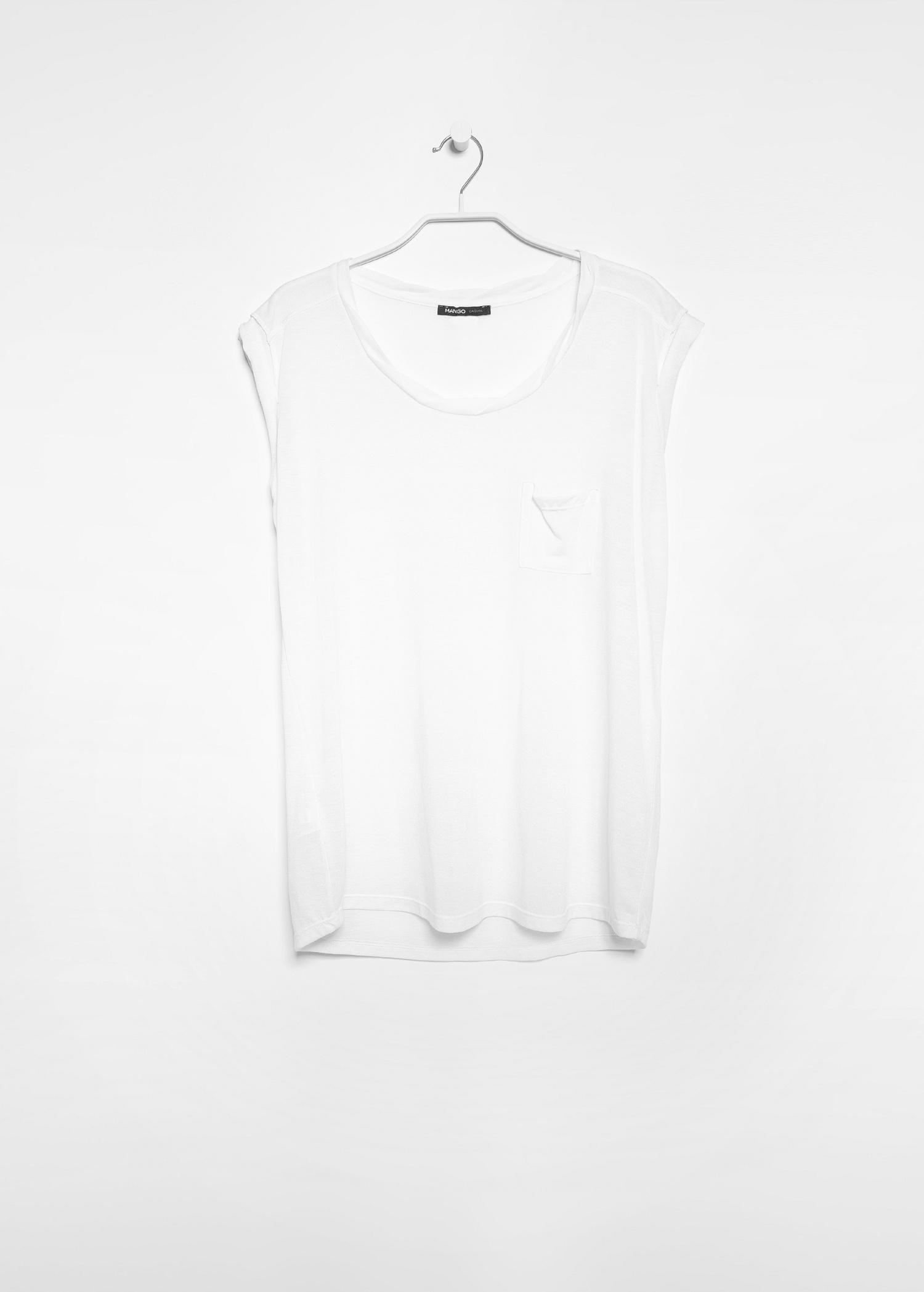 Mango - T-shirt poche (12,99 €)