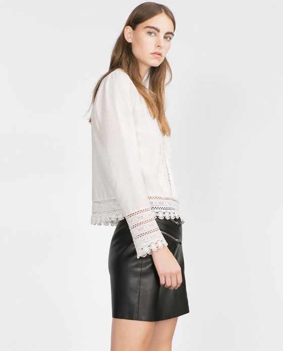 Zara - chemisier (50€)