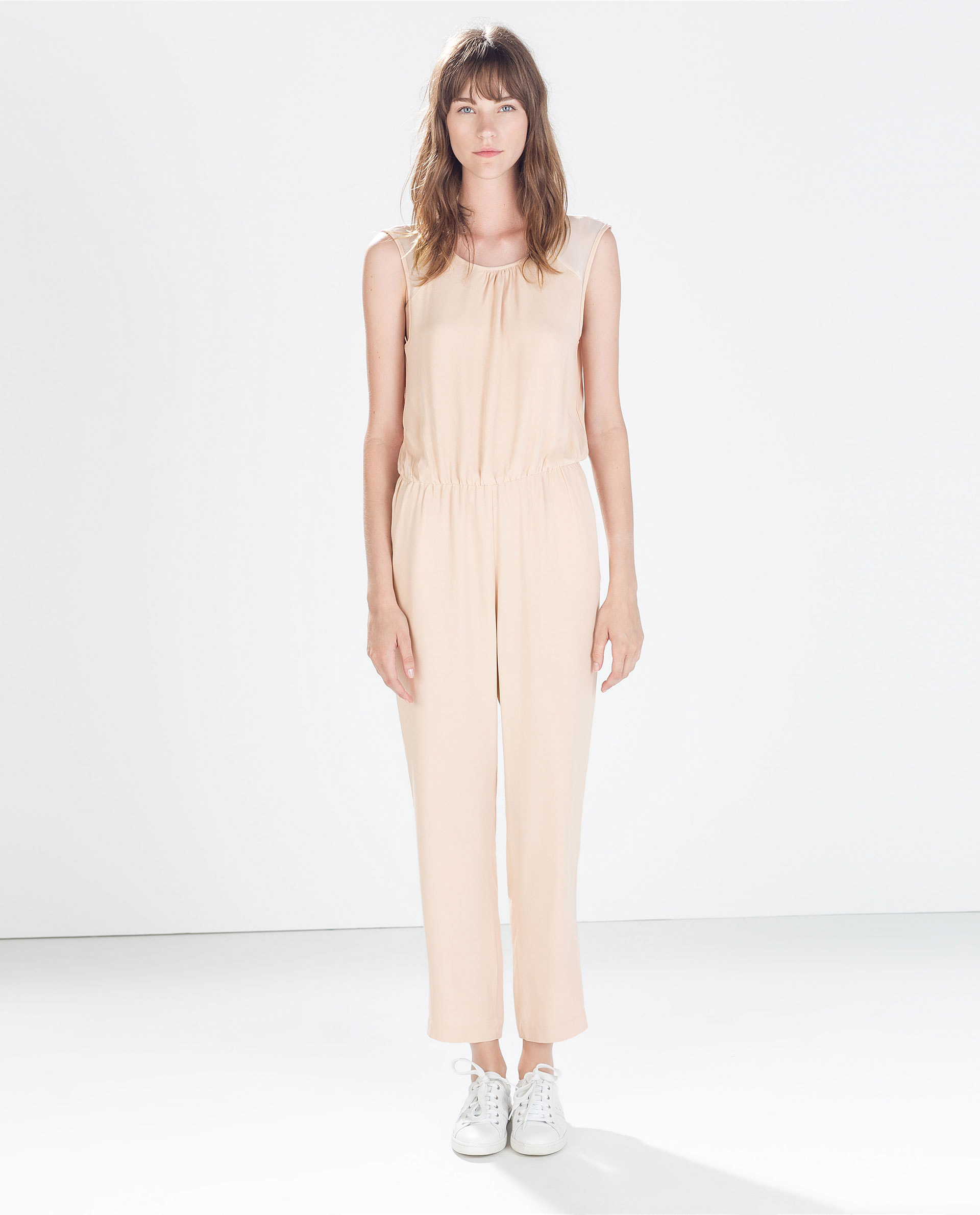 Zara - Combinaison longue parties transparentes (49,95 €)